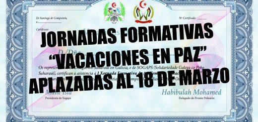 JORNADAS FORMATIVAS APLAZADAS